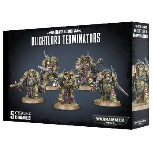 Death Guard, Blightlord Terminators - 5 Citadel Miniatures from Games Workshop